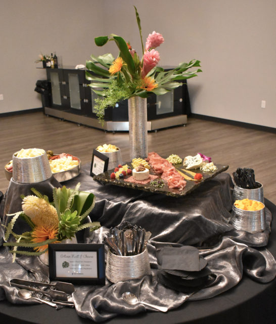 wedding appetizer table