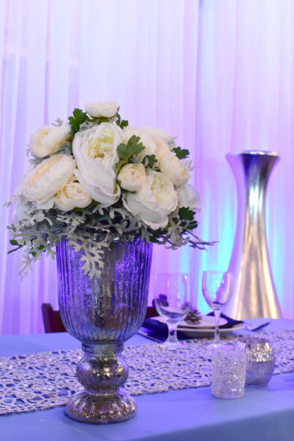 flower head table centerpiece