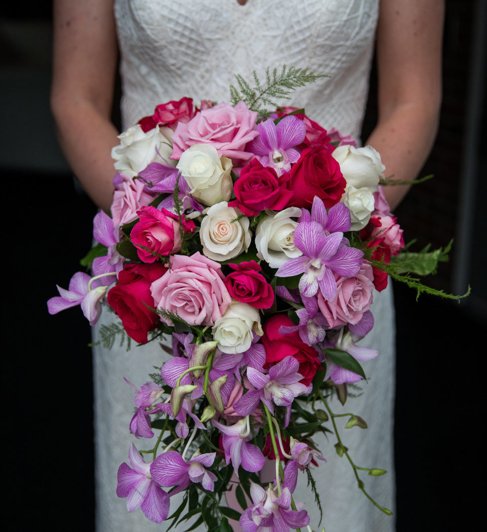 bride with flowers in cumberland county